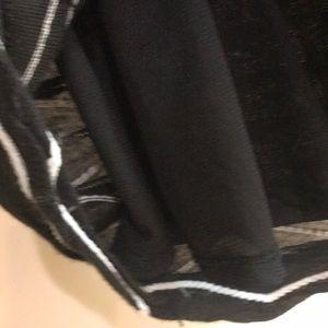 ECI Dresses - Amazing FUN ribbed black and white dress